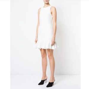 NWT Halston Heritage Shimmer Fitted Peplum Dress